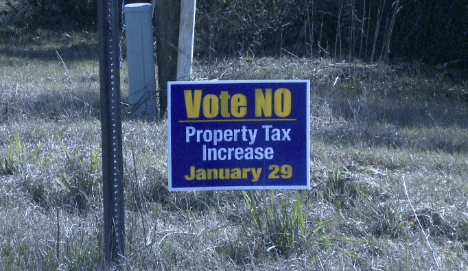 Butler County Vote No To Property Tax Increase Sign