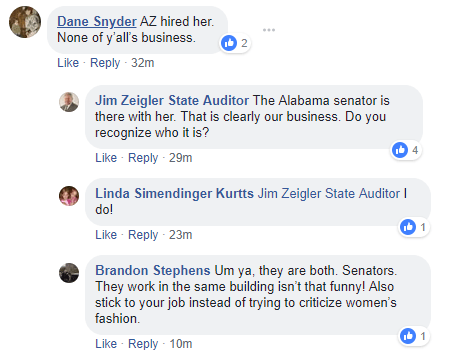 Jim Zeigler Facebook Post Comments