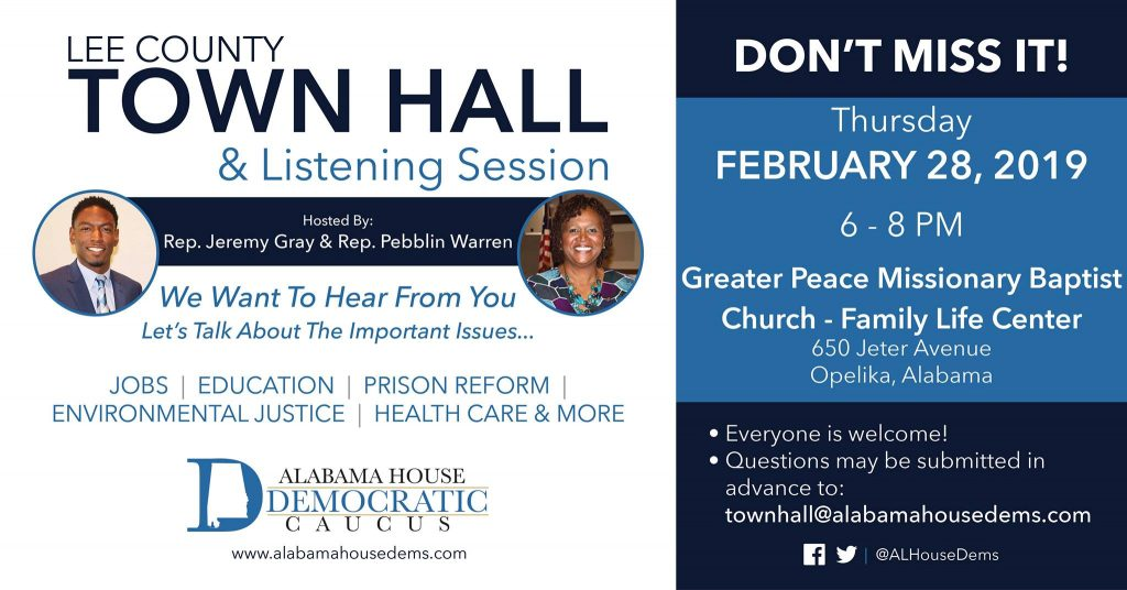 Lee County Town Hall & Listening Session