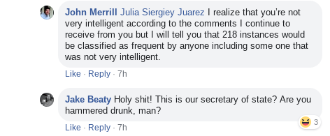 John Merrill Facebook Comments