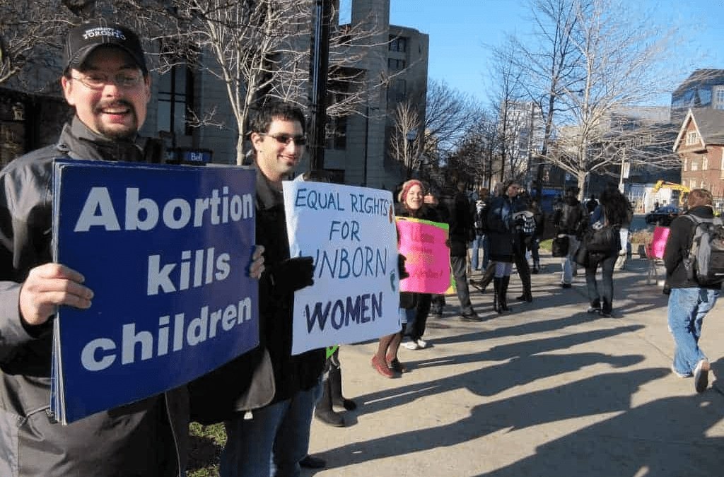 Protestors At Anti-Abortion Rally