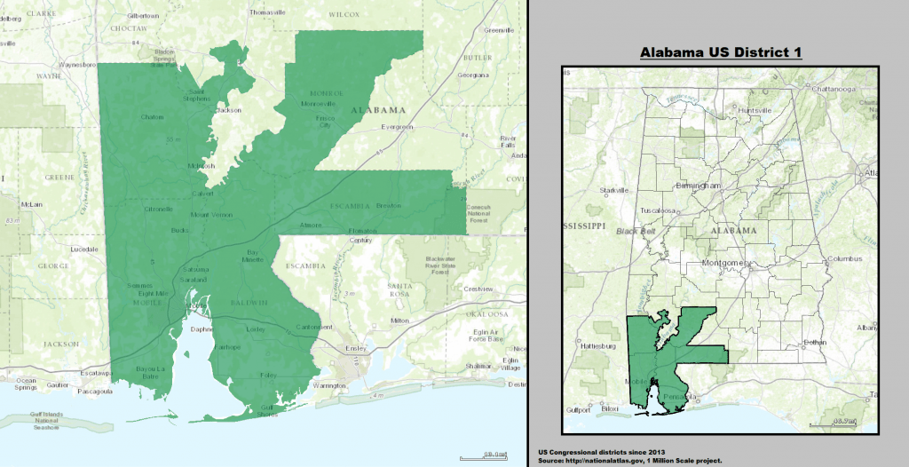 2013-2021 Alabama US Congressional District 1