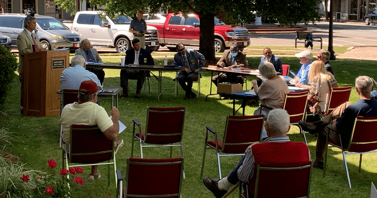 Henry County Commission Meeting on Front Lawn