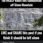 Ray Baxley from Blountsville, AL shares a Facebook post in support of keeping the rock relief in Stone Mountain Park in Georgia. The carving depicts three Confederate leaders, Jefferson Davis, Robert E. Lee, and Stonewall Jackson.